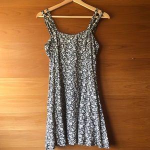 90s Vintage Floral Print Dress